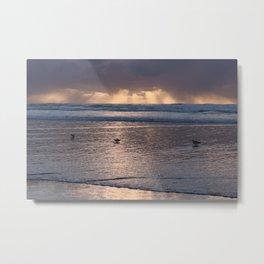 Beach Sunset :: California Coast Metal Print
