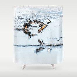 Hooded Megansers Landing Shower Curtain