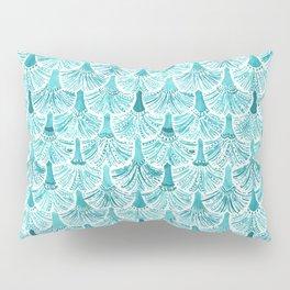 MERMAID TAILS Nautical Scallop Pattern Pillow Sham