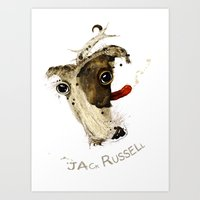 jack russell Art Prints featuring Jack Russell by Ariadna