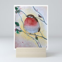 Morning bird Mini Art Print