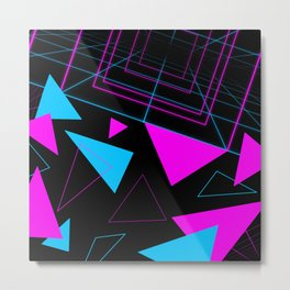 Synth Triangles Metal Print