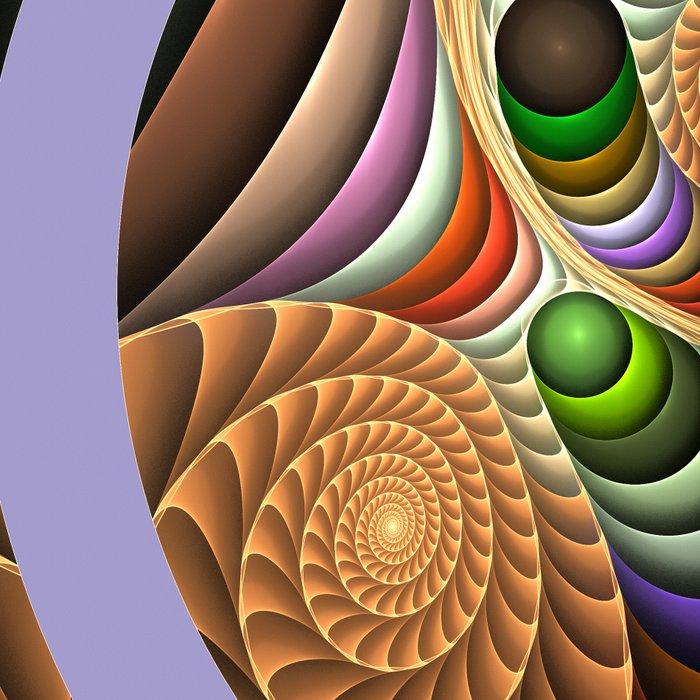 Pattern in motion, fractal geometric art Leggings