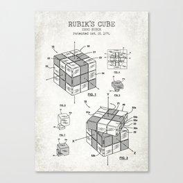 Rubik's cube old canvas Canvas Print