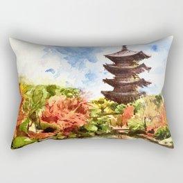 Kyoto Japanese Garden and Temple Rectangular Pillow