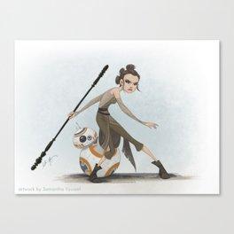 Rey & BB-8 Canvas Print