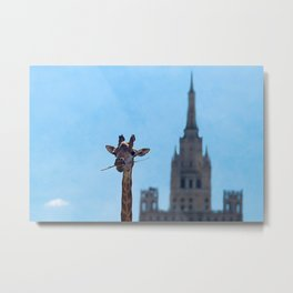 One more bite to outgrow the tallest Metal Print
