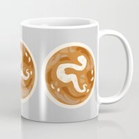 snake Mugs featuring Snake by Nancy Smith
