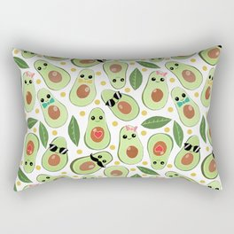 Stylish Avocados Rectangular Pillow