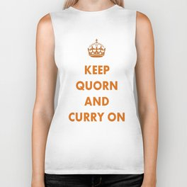 Keep Quorn and Curry On Biker Tank