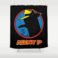 platypus Shower Curtains featuring Agent P by Moysche Designs