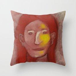Red Man Throw Pillow
