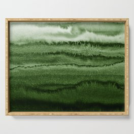 WITHIN THE TIDES FOREST GREEN by Monika Strigel Serving Tray