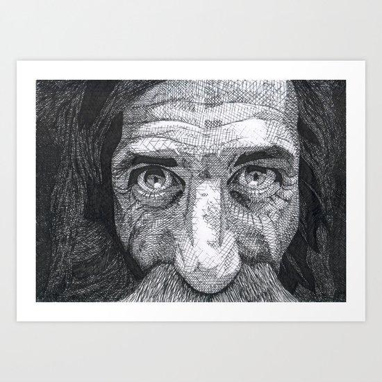Homeless man2 Art Print