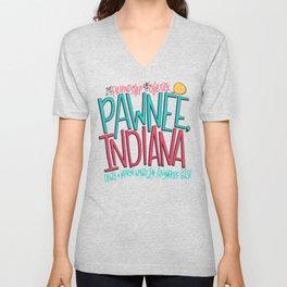 Pawnee, Indiana Unisex V-Neck