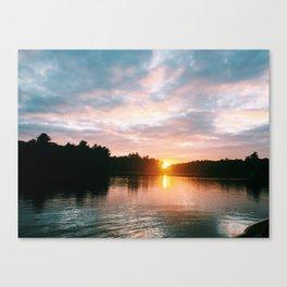 Northbound Sunset Canvas Print