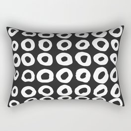 Pattern with hand-drawn ink, painted circles Rectangular Pillow