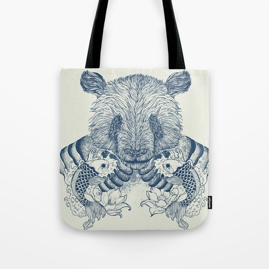 Panda Tattoo Tote Bag