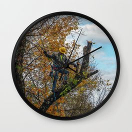 Tree Surgeon Wall Clock