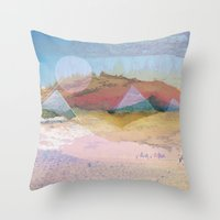 switzerland Throw Pillows featuring Egypt and Switzerland I by Moira Parton