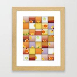 cocktail squares Framed Art Print