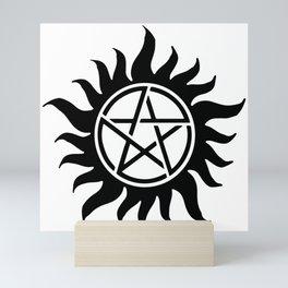 Anti Possession Sigil Black Mini Art Print