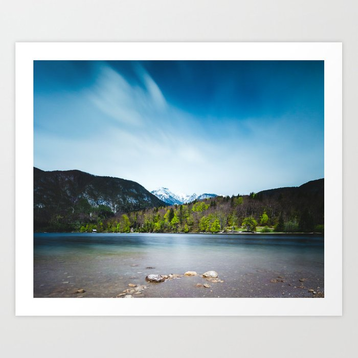 Lake Bohinj with Alps in Slovenia Art Print