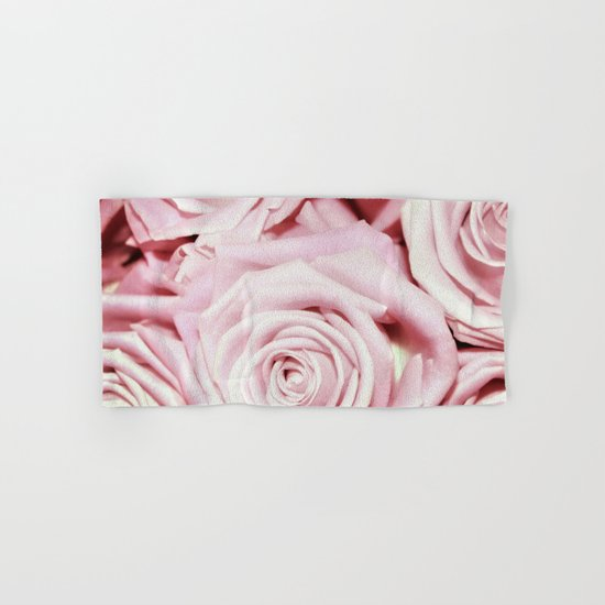 Beautiful bed of pink roses- Floral elegant and luxury backround Hand & Bath Towel