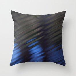 Dark Blue Water Ripples Throw Pillow