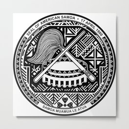 Seal of American Samoa Metal Print