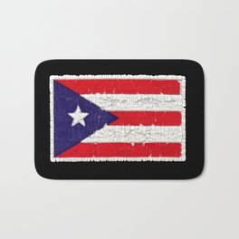Puerto Rican flag with distressed textures Bath Mat
