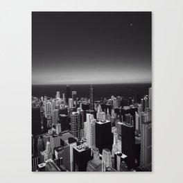 Black and White Chicago Skyline Canvas Print