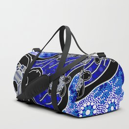Baby Sea Turtles - Aboriginal Art Duffle Bag