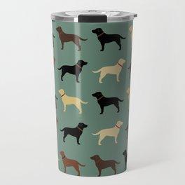 Labrador Retriever Dog Silhouettes Pattern Travel Mug
