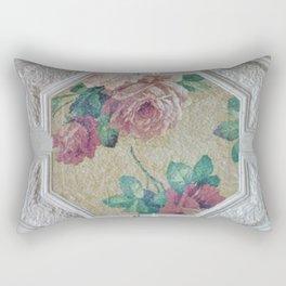 Antique Ceiling Tile * Art tile * Victorian Roses Rectangular Pillow