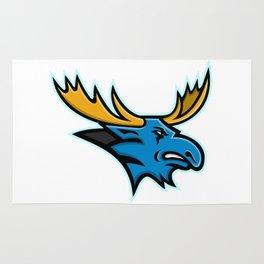Bull Moose Head Mascot Rug
