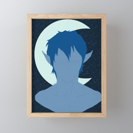 Blue Framed Mini Art Print