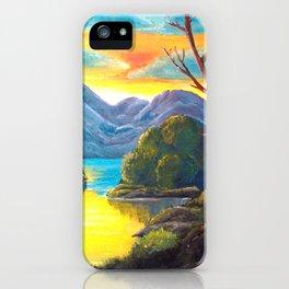 Lakeside Sunset iPhone Case