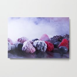 frozen berries Metal Print