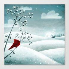 Cardinal by Friztin Canvas Print