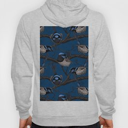 Night fairy wrens Hoody