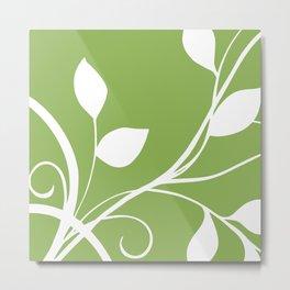 Greenery Modern Floral Botanical Metal Print