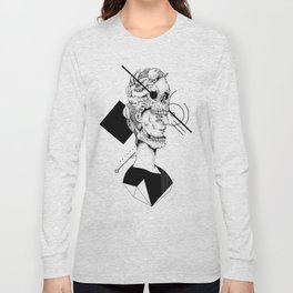 Skull and Woman 02 Long Sleeve T-shirt