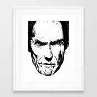 clint eastwood Framed Art Prints featuring Clint Eastwood by Zombie Rust