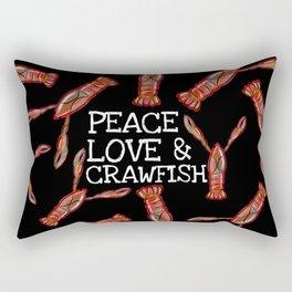 Peace, Love & Crawfish Beaucoup (dark) Rectangular Pillow