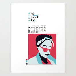 Calendar 2019 February Art Print