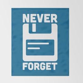 Never Forget Floppy Disk Throw Blanket