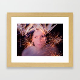 Fuegos artificiales Framed Art Print