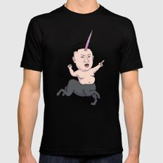 Kim Jong Unicorn Black MEDIUM Mens Fitted Tee