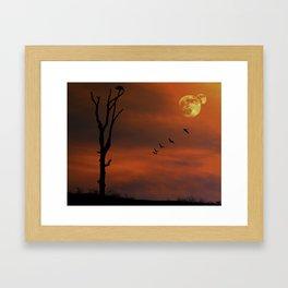 Evening Flight Framed Art Print